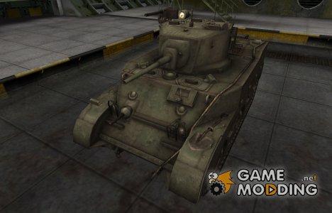 Шкурка для китайского танка M5A1 Stuart for World of Tanks