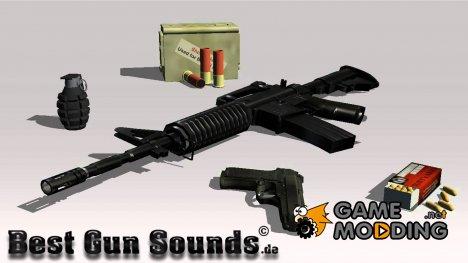 GUN Sounds для GTA San Andreas