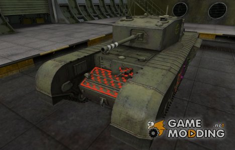 Качественные зоны пробития для Черчилль III для World of Tanks