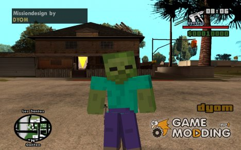 Zombie from Minecraft для GTA San Andreas