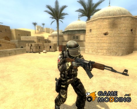 Woodland Camo Helghast For Gign для Counter-Strike Source