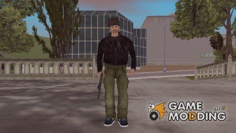 HD Клод в Ушанке for GTA 3