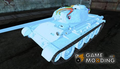 "Шкурка для Т-44 ""Rainbow Dash"" for World of Tanks"