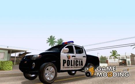 Mitsubishi L200 POLICIA - Ciudad de Zamboanga для GTA San Andreas