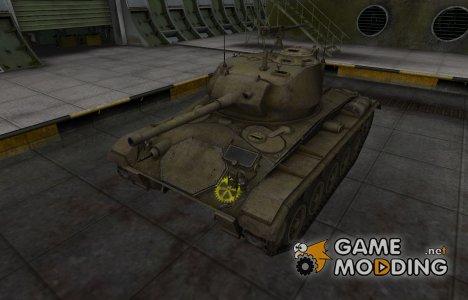 Контурные зоны пробития M24 Chaffee for World of Tanks