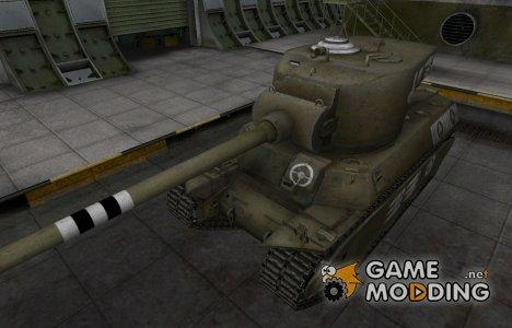 Зоны пробития контурные для M6A2E1 for World of Tanks