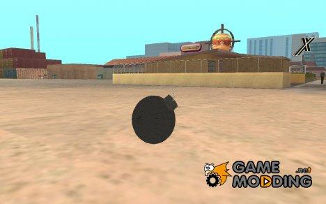 Pirate Grenade for GTA San Andreas