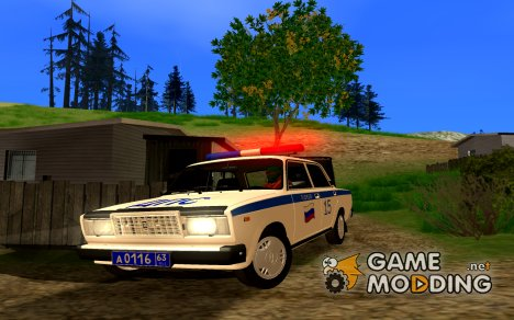 ВАЗ 2107 ДПС for GTA San Andreas