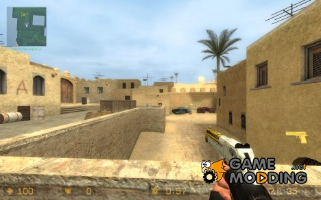 chrome and gold deagle [RECOLO для Counter-Strike Source