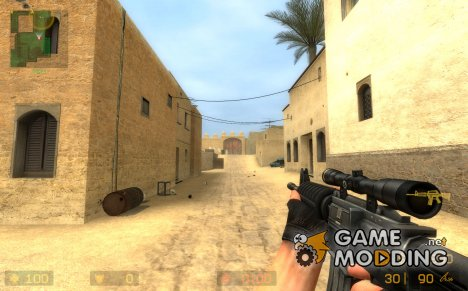 Scoped M4 skin для Counter-Strike Source