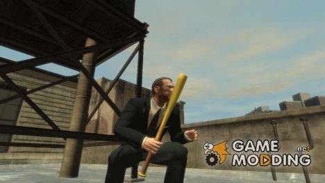 Золотая бейсбольная бита for GTA 4