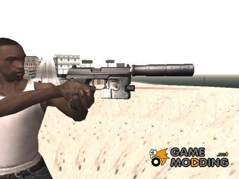 Новый пистолет с глушителем для GTA San Andreas