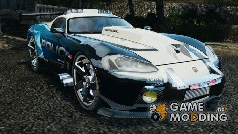 Dodge Viper SRT-10 ACR ELITE POLICE [ELS] for GTA 4