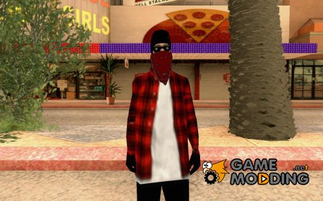 Скин банды Bloodz for GTA San Andreas
