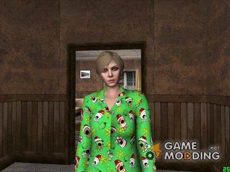 Female Green Pajamas DLC для GTA San Andreas