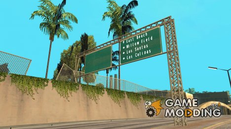 HD Дорожные указатели for GTA San Andreas