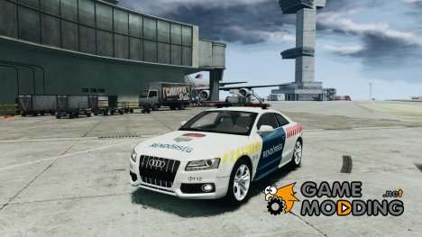 Audi S5 Hungarian Police Car white body для GTA 4