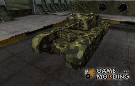 Скин для Черчилль III с камуфляжем for World of Tanks