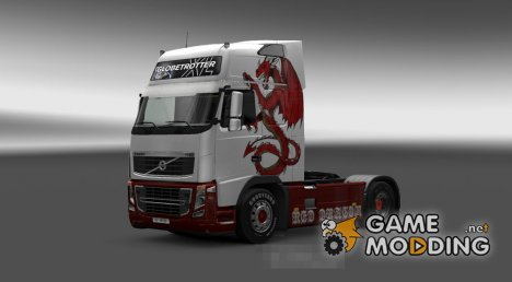 Скин для Volvo FH 2009 Red Dragon for Euro Truck Simulator 2