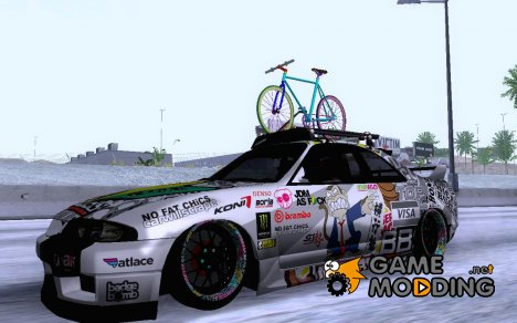 Nissan GT-R R33 HellaFlush for GTA San Andreas