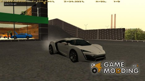 W-Motors Lykan Hypersport for GTA San Andreas