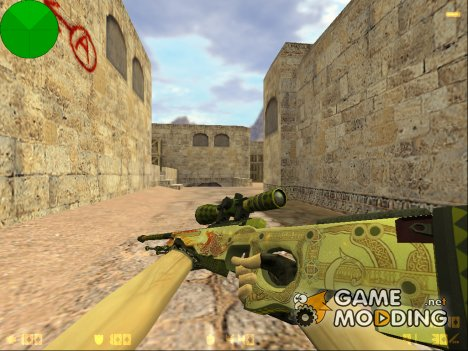 AWP Dragon Lore из CS:GO для Counter-Strike 1.6