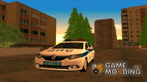 Renault Logan ОБ ДПС ГИБДД для GTA San Andreas