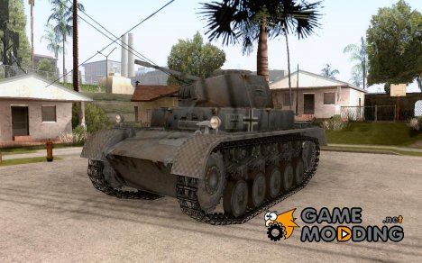 Легкий танк PzKpfw 2 Ausf.С для GTA:SA for GTA San Andreas