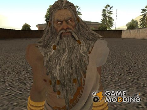 Zeus with long tunica from God of War 3 для GTA San Andreas