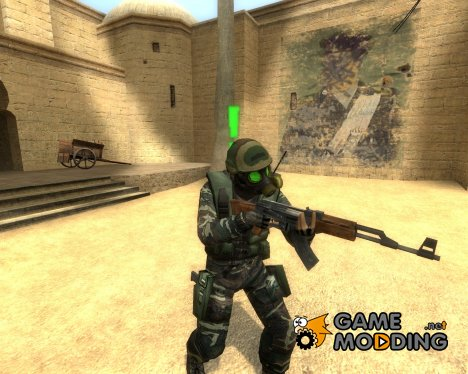 Half-life Opposingforce Sas Woodland Camo для Counter-Strike Source