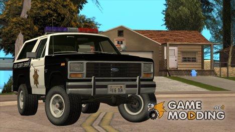 Ford Bronco Police 1982 for GTA San Andreas
