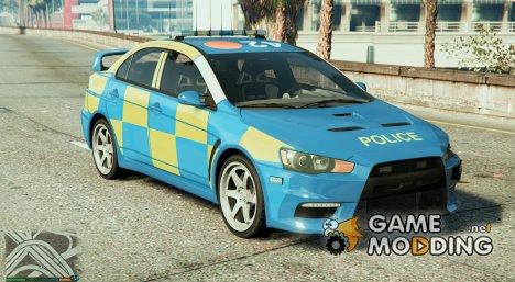 Essex Police Mitsubishi Evo X для GTA 5