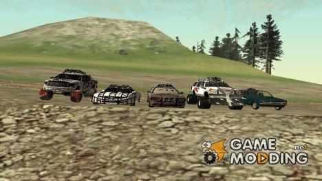 Машины для зомби апокалипсиса v2 для GTA San Andreas