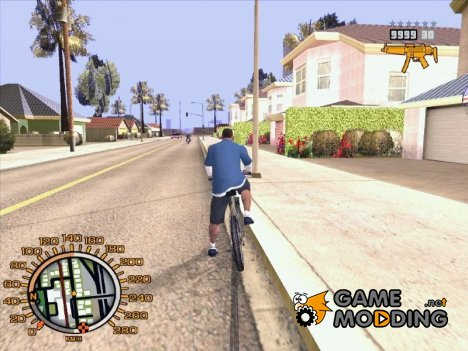 Orange GTA IV HUD for GTA San Andreas