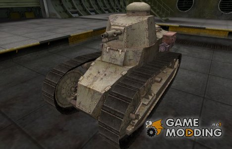 Пустынный французкий скин для Renault FT for World of Tanks