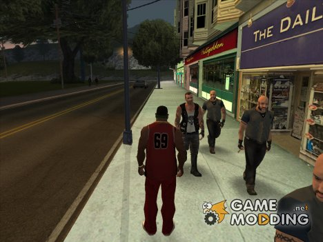 Пак скинов банд для GTA San Andreas