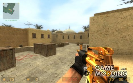 Gold M4A1 in Evil_Ice Animation для Counter-Strike Source