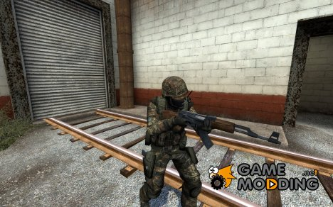Sixtoes Flecktarn CT V.1.1 (German Flag + Defuser) для Counter-Strike Source