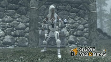 LeatherBound Huntress Armor для TES V Skyrim