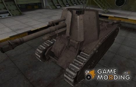 Перекрашенный французкий скин для 105 leFH18B2 для World of Tanks