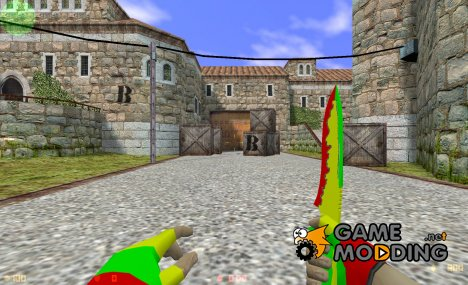 Jamaican knife 2012 for Counter-Strike 1.6