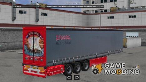 Standalone Weeda Trailer для Euro Truck Simulator 2