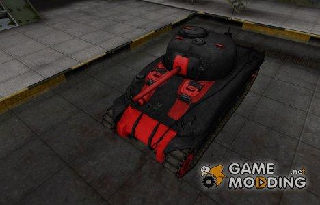 Черно-красные зоны пробития M4 Sherman для World of Tanks