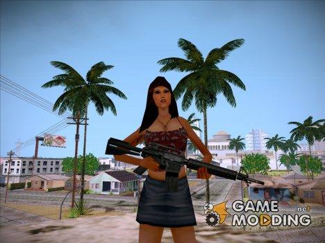 Девушка из загрузочного экрана - 2 для GTA San Andreas