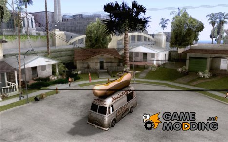 Чистые стекла в Hotdog-е for GTA San Andreas