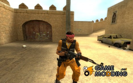 Escaped Prisoner Guerilla Skin Final for Counter-Strike Source