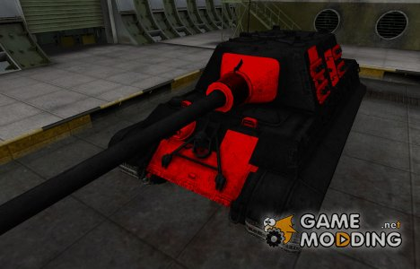 Черно-красные зоны пробития Jagdtiger для World of Tanks