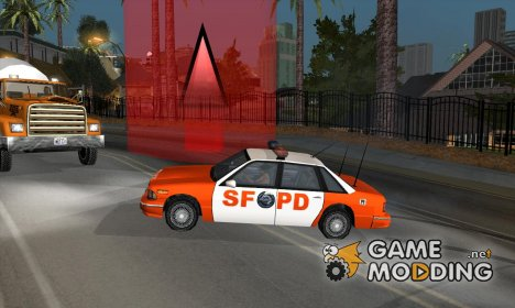 Picking up checkpoints on police cars для GTA San Andreas
