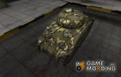 Простой скин M4 Sherman for World of Tanks