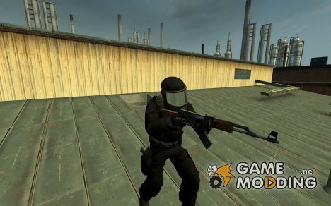 Black_and_Chrome_GIGN для Counter-Strike Source
